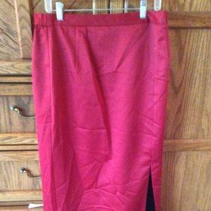Satin long skirt dress skirt with slit